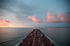 Outbound Galveston Bay, 8/31/15 (OneEighteen) Tags: pink sky clouds port harbor marine ship pov houston maritime nautical navigation channel navigate oneeighteen houstonshipchannel louvest