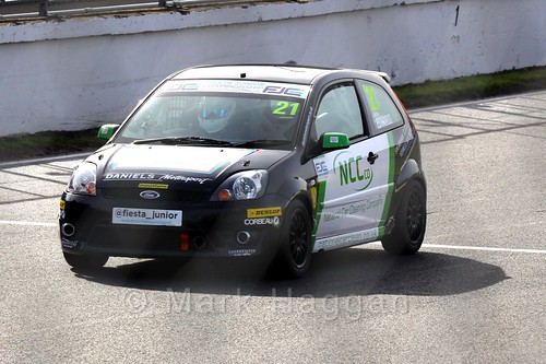 Nathan Edwards in the Fiesta Junior Championship, Brands Hatch, 2015