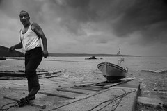 The fisherman (Triantafyllos Koumpos Photography) Tags: street boat seaside fisherman blacksea peopleofistanbul