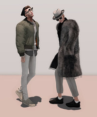 Do you mind if we take it slow? (Levi Megadon // *OMG*) Tags: street new winter urban male men wool look hat fashion tattoo hair skinny glasses blog outfit clothing cool pants mesh coat hipster style blogger fresh sneakers wear clothes sl jeans event 350 secondlife mens trousers denim sorgo fedora beanie uber loose stylish seul tableauvivant baggy speakeasy boost shearling lotd buc fitted xco yeezy isonman beusame seulgarcon