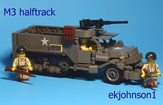 M3 Halftrack (ekjohnson1) Tags: world two paris france brick germany army marine war ranger tank lego belgium pacific legs brothers wwii band battle creation sing ba cb build m3 cod airborne citizen dday thompson own sherman waw bulge halftrack gaiter moc savingprivateryan m1903 brickarms bfal bfva originalfilter