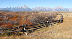 A Pasture Fence in the Grand Tetons (Robert F. Carter Travels) Tags: mountains fence nationalpark fences grandtetons tetons nationalparks grandteton grandtetonnationalpark