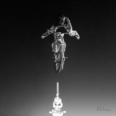 The Pinnacle of Freestyle Motocross (marzipan bunny) Tags: blackandwhite bw statefair fair motorcycle motocross motorsports bnw blackandwhitephotography fmx arizonastatefair freestylemotocross azstatefair vincemorgan