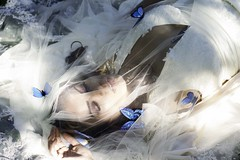 And She Fell into a Deep Slumber (Sophie.Dituri) Tags: portrait woman beauty face fashion butterfly model slumber magic sophie fantasy expressive sleeeping dituri