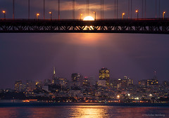 """Moon Catcher""- San Francisco, CA (Nicholas Steinberg photography) Tags: sanfrancisco city wallpaper moon reflection night print photography search twilight cityscape top deck goldengatebridge moonrise citylights license buy marincounty moonlight sell share marinheadlands cityskyline results alignment advertise timing acquire distribute sanfranciscocityscape marinlandscapes nicholassteinberg nicholassteinbergphotography nicksteinberg nicksteinbergcom"