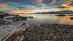 silence at daybreak (christian.denger) Tags: longexposure seascape reflection norway sunrise canon landscape eos dawn coast stones norwegen lee fjord filters landschaft küste ullsfjord 6d troms oldervik lee09gndsoft 1635mmf4l chrisdenger elementspictures