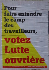 Pour faire entendre le camp des travailleurs (emmanuelsaussieraffiches) Tags: poster political politique affiche lutteouvrire