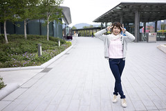 BoBo JAM  (SiuYu ) Tags: cruise hk art 35mm hongkong model sony bobo terminal kai bb  f28 tak     kaitak  purin kowloonbay pompompurin a7r    youtuber  jam  j