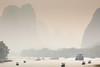 Li River Cruise (Bridgetony) Tags: china cruise spectacular haze asia southeastasia guilin yangshuo limestone karst touristattractions guanxi