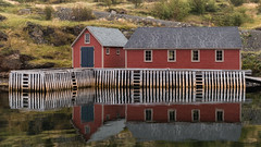 Reflections (ToddP99z) Tags: trinity newfoundland september travel canada shack pier reflection reflections red house fish