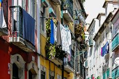 Le linge de Lisbonne. (Bouhsina Photography) Tags: linge rue street couleur ruaderosa bouhsina canon bouhsinaphotogrphy portugal 5diii ef70200
