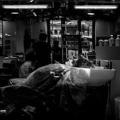 Shampoo_square (Pierre Pichot) Tags: black blackwhite blackandwhite city cluj contrast fuji fujifilm hair hairdresser light monochrome napoca parlour pichot pierre portrait romania shadows shampoo shop street streetphotography streets urban white woman x100t