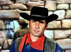 "Robert Fuller in ""Wagon Train"" (stalnakerjack) Tags: 1960s hollywood tvwesterns robertfuller actors tv television westerns"
