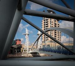 The Lift Bridge (Brian Negus) Tags: manchestershipcanal salford liftbridge salfordquays