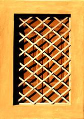 DSC_0032 (Camilla BB) Tags: geometric lines window warm shadows grating