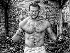 "MMA fighter Adam ""The Prototype"" (Shawn Collins Photography) Tags: mma fighter mmafighter model modeling male malemodel hairy hairychest beard rugged man masculine built muscle muscular bodybuilding athlete"