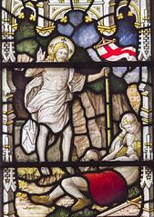 Photo of Wilsford, St Mary's church window detail