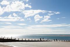 Expanse | West Wittering beach | October 2016-28 (Paul Dykes) Tags: westwittering beach coast coastal seaside uk england clouds people groynes sea solent