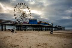 The big wheel,Central pier Blackpool (Brent.Jones photography) Tags: big wheel blackpool cloudy sand beach uk centralpier nikon