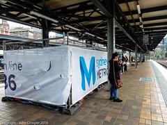 Sydney Metro - A small construction compound appears on Platforms 18 & 19 -2 (john cowper) Tags: sydneymetro buildingcompound platform1819 centralrailwaystation sydneylightrail cselr cbdsoutheastlightrail sydneytrains nswtrainlink sydney newsouthwales
