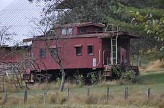 Rowlesburg, West Virginia (1 of 3) (Bob McGilvray Jr.) Tags: rowlesburg westvirginia bo baltimoreohio caboose wood wooden private farm sevenisland railroad train tracks c2141 cupola