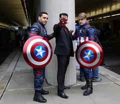 New York Comic Con 2016 - Cap & Stark (Rich.S.) Tags: new york comic con convention nycc 2016 cosplay tony stark iron man captain america marvel comics