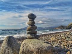 Play with stones on the beach!!! (panoskaralis) Tags: balance rock beach shore coast sea bluesea seaside charamida fygokentrosbeach sky bluesky island lesvosisland mytilene aegean aegeansea nature autumn outdoor