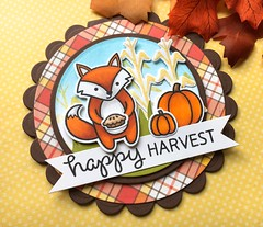 Fall Fun Day 2! (The Queen's Scene) Tags: card cardmaking papercrafting stamping diecut fall fallfun lawnfawn lawnscapingchallenge happyharvest