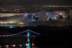 When the Fog Rolls In - Vancouver, BC (Michael Thornquist) Tags: fogcouver fog lionsgatebridge suspensionbridge bridge burrardinlet westvancouver westvan stanleypark coalharbour vancouverphotos vancouver britishcolumbia dailyhivevan vancitybuzz vancouverisawesome veryvancouver 604now photos604 explorecanada ilovebc vancouverbc vancouvercanada vancity pacificnorthwest pnw metrovancouver gvrd canada