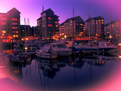 The Colourful Harbour (RS400) Tags: cool wow amazing wicked water sea orange boat boats buildings night time sail sky long exposure portishead south west uk england olympus