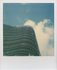 Offices from below - Roidweek 2016 (Tbo-art) Tags: architecture building blue sky urban modern modernarchitecture office minimal bluesky instant polaroid impossible impossibleproject simple minimalistic simplecomposition roidweek polaroidweek roidweek2016 apeldoorn gelderland netherlands minimalism