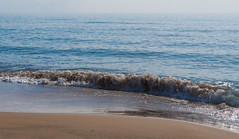 Wave. (pepesanmartn) Tags: wave sea sand yellow beach horizon sky blue foam reflection morning light sun sunny autumn water wet hiking paradise park nature natural outdoor calblanque mini murcia