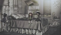 It's a modern day romance (Alexa M.) Tags: tia shinyshabby secondlife bedroom bed grey dustbunny applefall zerkalo go scarletcreative collabor88