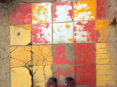 Cracked floor tiles in Talpa, one of Mexico's Pueblos Magicos in the Pacific high sierras (albatz) Tags: sierramadre westcoast buildings talpa mexico pueblosmagicos pacific high sierra bright floor tiles jalisco town