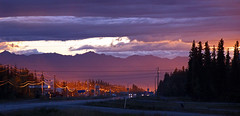 alaskan sunset in Tok (scott1346) Tags: evening sunset colors orange blue violet yellow white gold beauty light silhouette sparkle 1001nights 1001nightsmagiccity autofocus contactgroups eyecandy