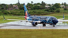 C-GWSZ (Terris Scott Photography) Tags: aircraft jet jetliner airliner aviation airplane boeing 737 738 westjet barbados canada plane spotting nikon d750 nikkor 70300vr travel