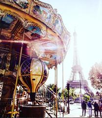 Carousel (afinefloralromance) Tags: paris france carousel travel eiffeltower