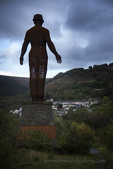 THE GUARDIAN OF THE VALLEYS, SOUTH WALES. (IMAGES OF WALES.... (TIMWOOD)) Tags: 6 bells six sixbells guardian of the valleys abertillery coal mine disaster memorial monmouthshire southwales wales welsh coalfield 1960 sebastianboyesen parc ebbwfachtrail