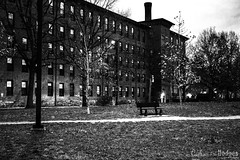 In the Park (catherinehodges) Tags: blackandwhite architecture creepy scary ominous
