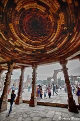 Qutub Minar ceiling (Pandster1981) Tags: a77 delhi honeymoon india qutubminar sigma1020mmf35exdchsm sonya77