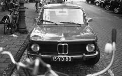 Little beemer (Arne Kuilman) Tags: nikon f100 analogue orwo un54 blackandwhite iso100 amsterdam nederland netherlands scan epson v600 bmw car auto