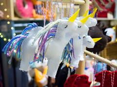 Fun felt ornaments and masks by Made by Shellmo, Shelly Monsurinjohn (marketkim) Tags: holidaymarket stockingstuffers kidslike product eugene oregon saturdaymarket festival artfair eugenesaturdaymarket artfestival