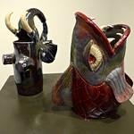 Untitled and I Don't Bite, Raku pottery by Katelyn Brandow thumbnail