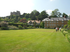 Powis castle & garden house from lawn.
