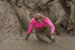 in the pink (stevefge) Tags: berendonck strongviking viking mud nederland netherlands nl nederlandvandaag pink slide slippery people candid girls