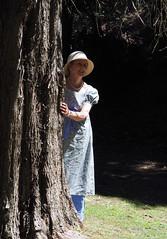 Regency Gown (Kaptain Kobold) Tags: kaptainkobold frocktober portrait wife frock gown dress crossdressing hat costume regency historical