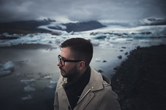 The Cold. (juriskokins) Tags: iceland travel travelphotography cool cold tones darkart fineart portrait nikon d610 2470mm f28 glacier ice hipster overcast cloudy dark moody