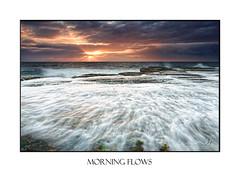 Ocean flows (sugarbellaleah) Tags: sunlight morning waves tidal flowing water ocean seascape seaside reef rocks geology clouds weather narrabeen australia travel tourism pretty beautirful