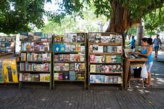 Havana Bookseller (Sally Dunford) Tags: sallyoctober2016 havanabookseller havanacuba cuba bookseller canon7d canon1755mm