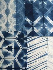 Made in a Indigo shibori fabric dyeing class with Kim Eichler Messmer. (teaginny) Tags: fabricdyeing indigo arashi shibori